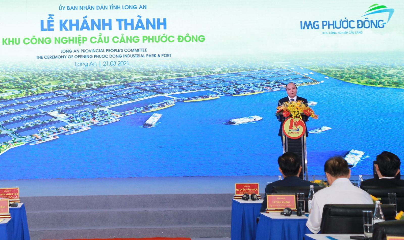 thu tuong nguyen xuan phuc tham du le khanh thanh khu cong nghiep cau cang img phuoc dong   long an